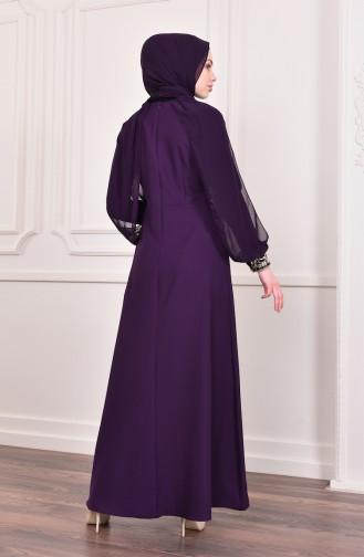 Sequin Evening Dress  4118-03 Purple 4118-03