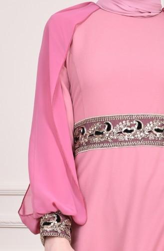 Sequin Evening Dress  4118-04 Dried Rose 4118-04