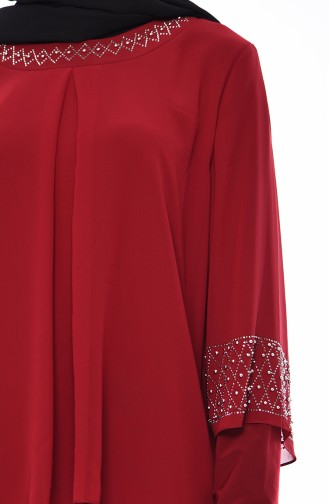 Claret red Blouse 2223-02