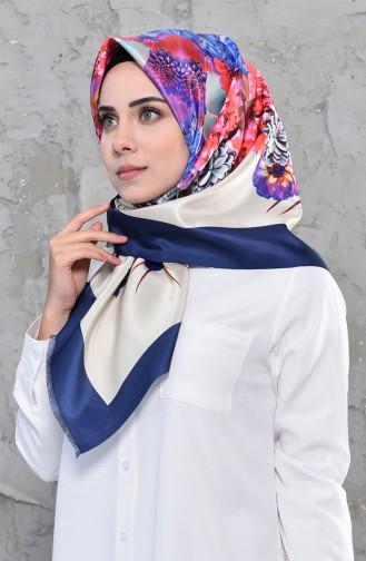 Dijital Baskılı Tafta Eşarp 95275-05 Lacivert 95275-05