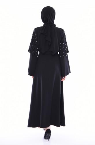 Abaya Perlées 35808A-01 Noir 35808A-01