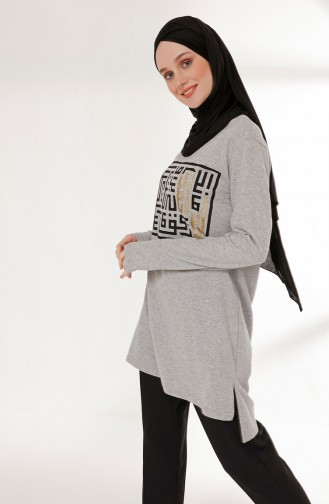 Printed Tunic 5002-09 Gray 5002-09
