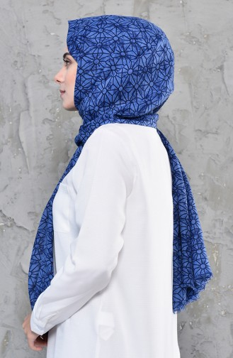 Light Navy Blue Sjaal 390-110