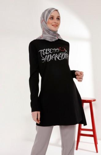 ميناهيل تونيك بتصميم مُطبع 5003-01 لون أسود 5003-01