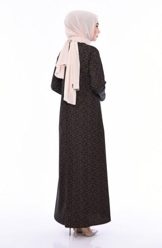 Patterned A Pleat Dress  1186-03 Black 1186-03