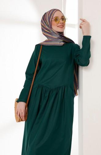 c3d32c143d370 Zümrüt Yeşili Tesettür Elbise Modelleri ve Fiyatları - Tesettür ...