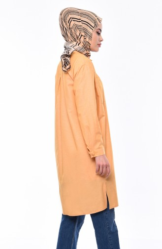 Pockets Asymmetric Tunic 1293-03 Yellow 1293-03