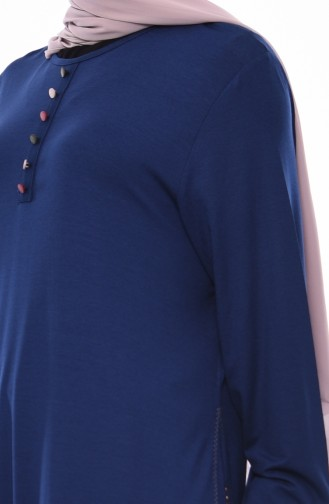 Embroidered Tunic 50556-07 light Navy 50556-07
