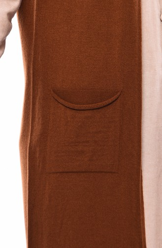 Knitwear Pocket Vest 4121-19 Tobacco 4121-19