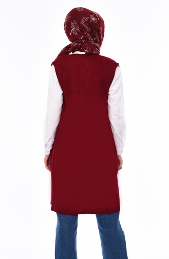 Triko Cepli Yelek 4121-20 Kırmızı 4121-20