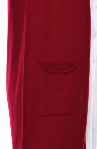 Triko Cepli Yelek 4121-20 Kırmızı