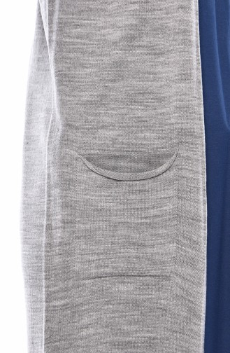 Knitwear Pocket Vest 4121-21 Gray 4121-21