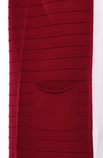 Triko Cepli Yelek 4125-13 Kırmızı