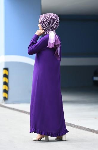 Viscose Ruffled Dress 1202-02 Purple 1202-02