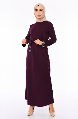 Kleid mit Band 4030-02 Zwetschge 4030-02