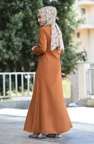 Robe Viscose Manches élastique 2521-04 Tabac 2521-04