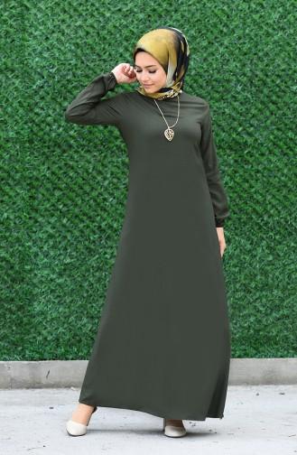 فستان أخضر داكن 2521-07