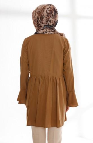 Volanlı Anvelop Tunik 9012-08 Camel 9012-08