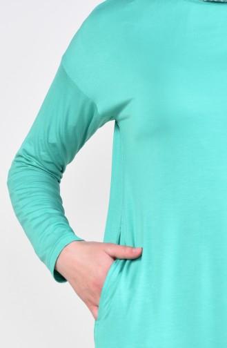 تونيك بتصميم اكمام اسبانية10283-02 لون اخضر 10283-02