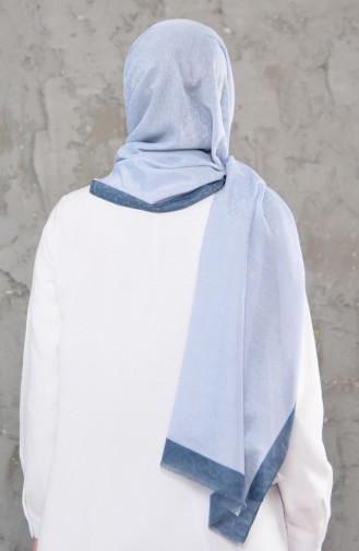 Monogram Shawl 2233-03 Baby Blue İndigo 2233-03