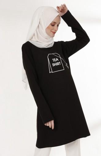 Tunique Imprimée 3048-01 Noir 3048-01
