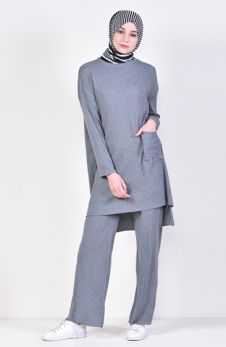 Asymmetric Tunic Trousers Double Suit 3314-08 Smoked 3314-08