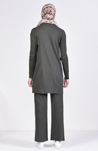 Tunik Pantolon İkili Takım 3316-23 Koyu Haki Yeşil 3316-23