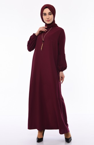 Viscose Sleeve Elastic Dress 1203-02 Cherry 1203-02