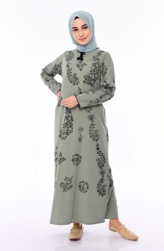 Robe Hijab Vert noisette 0004-10