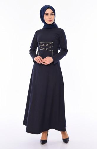 Chain Detail Dress 1181-05 Black 1181-05
