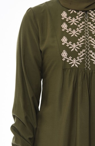Front Embroidered Dress 5027-07 Green 5027-07