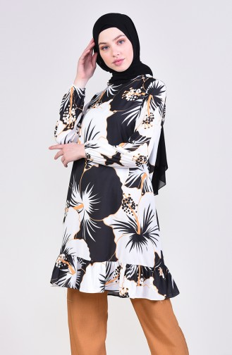 Frilly Tunic 4563A-02 Black 4563A-02