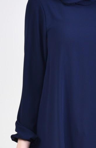 Tunique Manches élastique 4564-02 Bleu Marine 4564-02