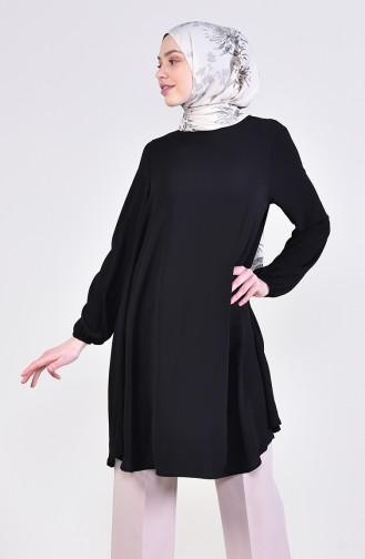 Elastic Sleeve Tunic 4564-05 Black 4564-05