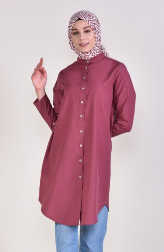 Front Button Tunic 12002-03 dry Rose 12002-03