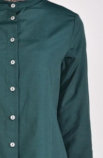 Önü Düğmeli Tunik 12002-11 Yeşil