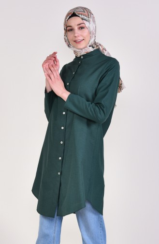 Front Button Tunic 12002-13 light Green 12002-13