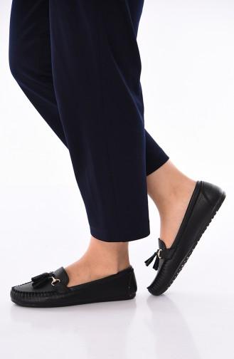 Black Woman Flat Shoe 120-06