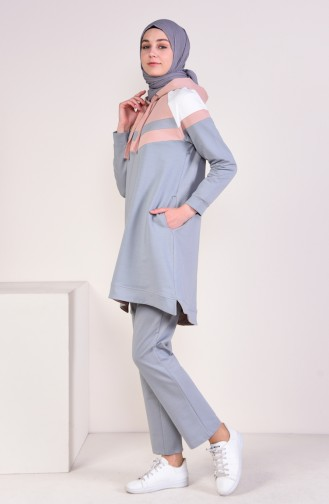 Hooded Tracksuit  9050-01 Mold Blue 9050-01