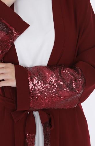 Claret red Abaya 7835-03