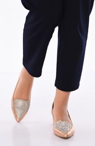 Bayan Taşlı Topuklu Ayakkabı 301K-03 Rose 301K-03