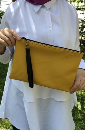 Yellow Portfolio Hand Bag 12-32