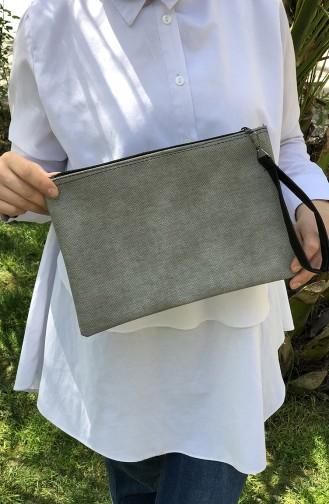 Gray Portfolio Hand Bag 12-33