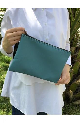Turquoise Portfolio Hand Bag 12-34