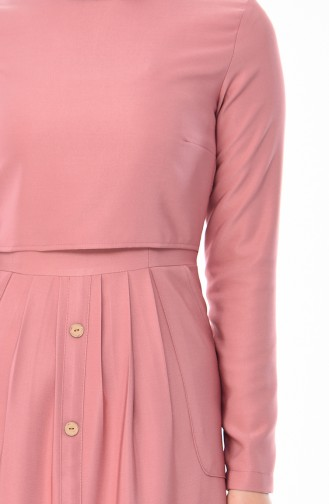 Button Detail Dress 4275-03 Dried Rose 4275-03