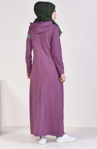 Robe Hijab Couleur Lilas 9054-05