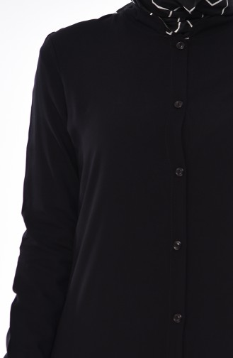 Ruffled Tunic 0620-01 Black 0620-01