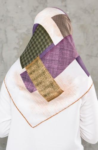 شال رايون بتصميم مطبع 2236-06 لون اصفر 2236-06
