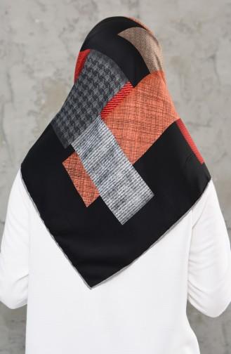 شال رايون بتصميم مطبع 2236-07 لون رمادي فاتح 2236-07