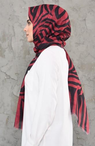 Claret red Shawl 4338-02